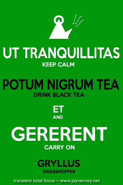 Keep Calm in Latin and English