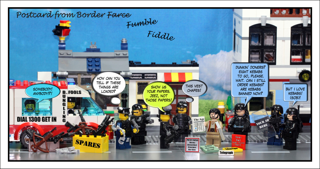 Cartoon of Border Force and Operation Fortitude